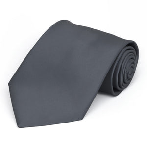 Pewter Premium Solid Color Necktie
