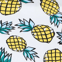 Load image into Gallery viewer, Pineapple pattern fabric on white background