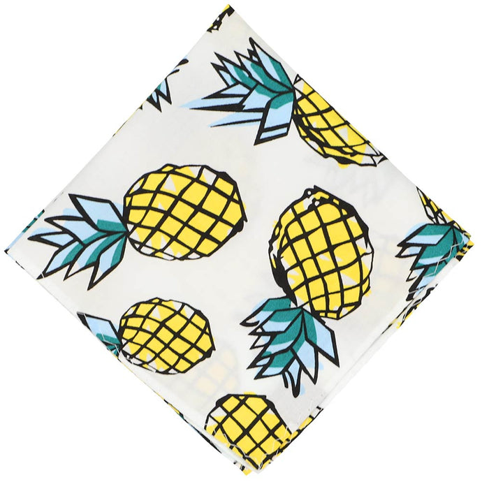 Pineapple Cotton Pocket Square
