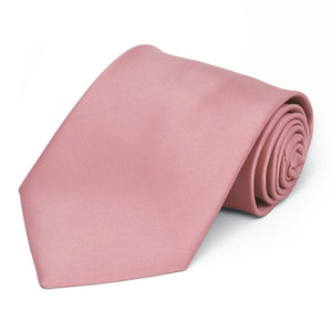 Pink Champagne Premium Solid Color Necktie