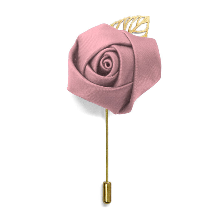 Pink Champagne Premium Flower Lapel Pin