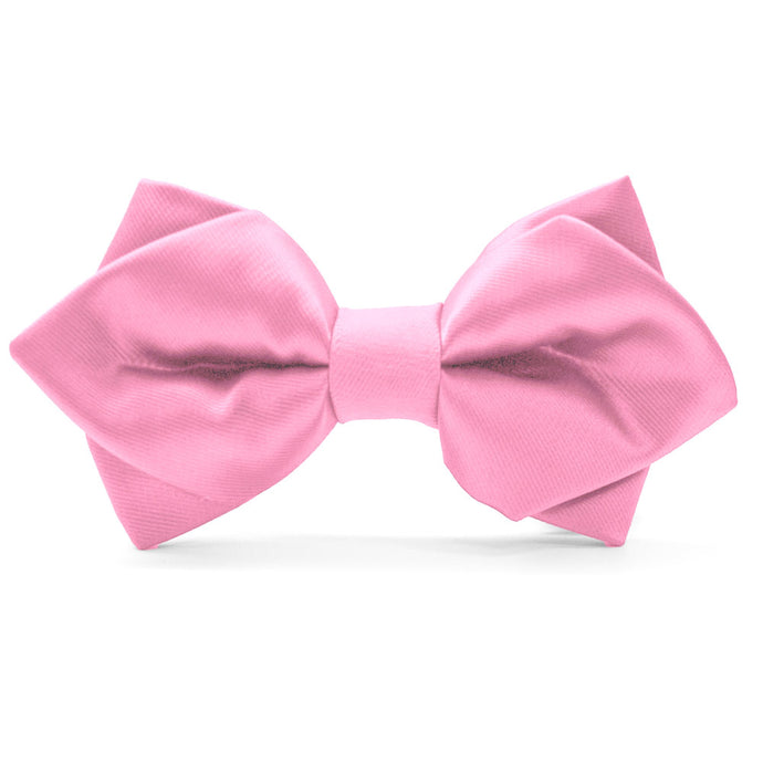 Pink Diamond Tip Bow Tie