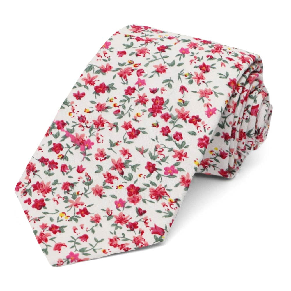 Alameda Floral Cotton Narrow Necktie
