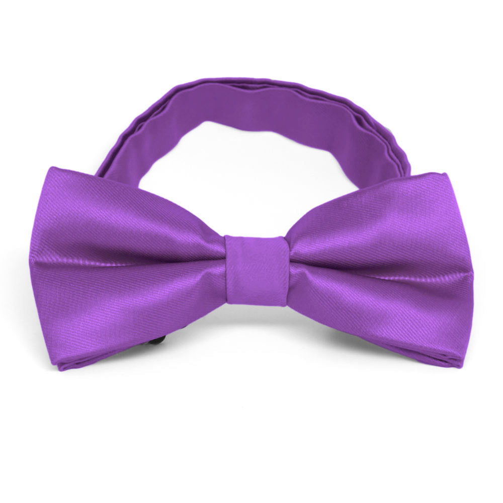 Plum Violet Band Collar Bow Tie