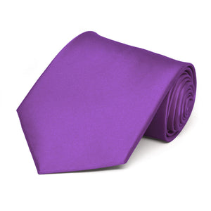 Plum Violet Solid Color Necktie