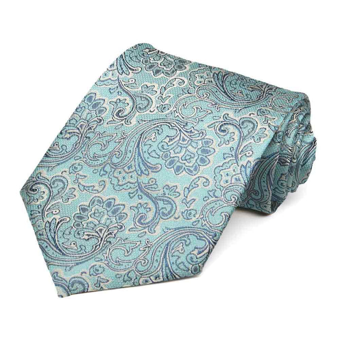 Pool Blue Kingsman Paisley Cotton/Silk Necktie