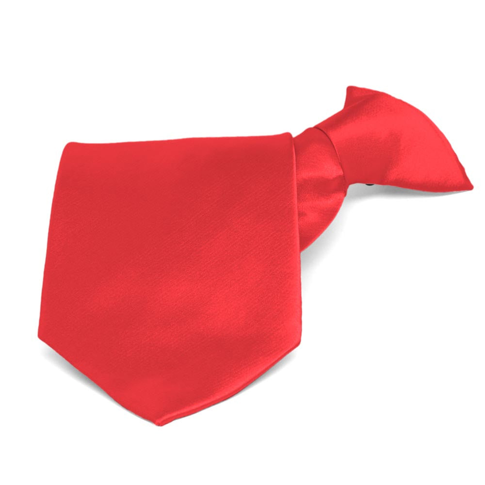 Poppy Solid Color Clip-On Tie