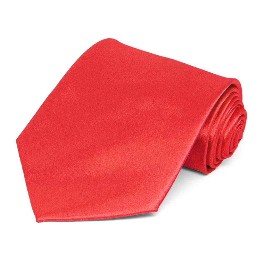 Poppy Solid Color Necktie