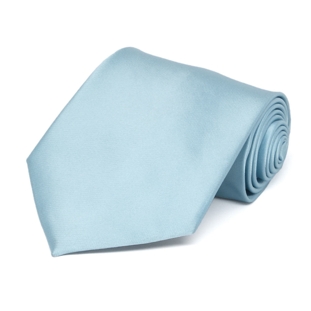 Powder Blue Solid Color Necktie