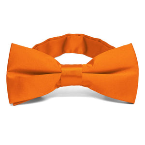 Pumpkin Orange Band Collar Bow Tie