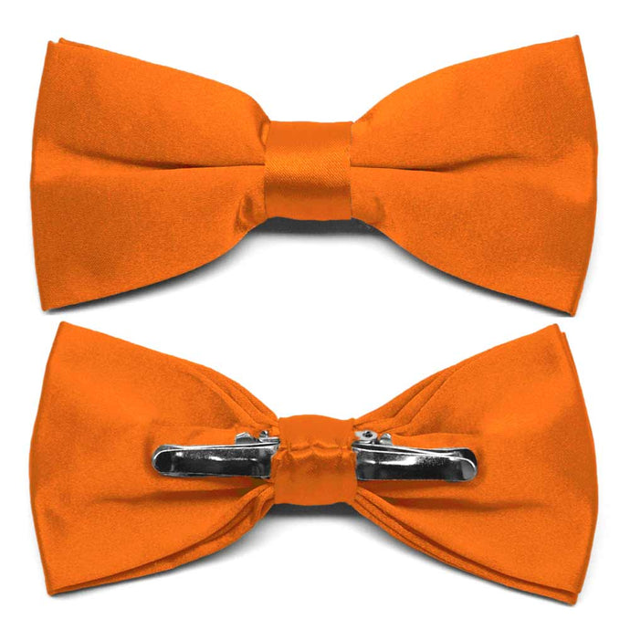 Pumpkin Orange Clip-On Bow Tie