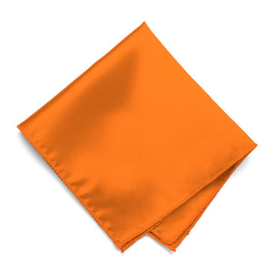 Pumpkin Orange Solid Color Pocket Square