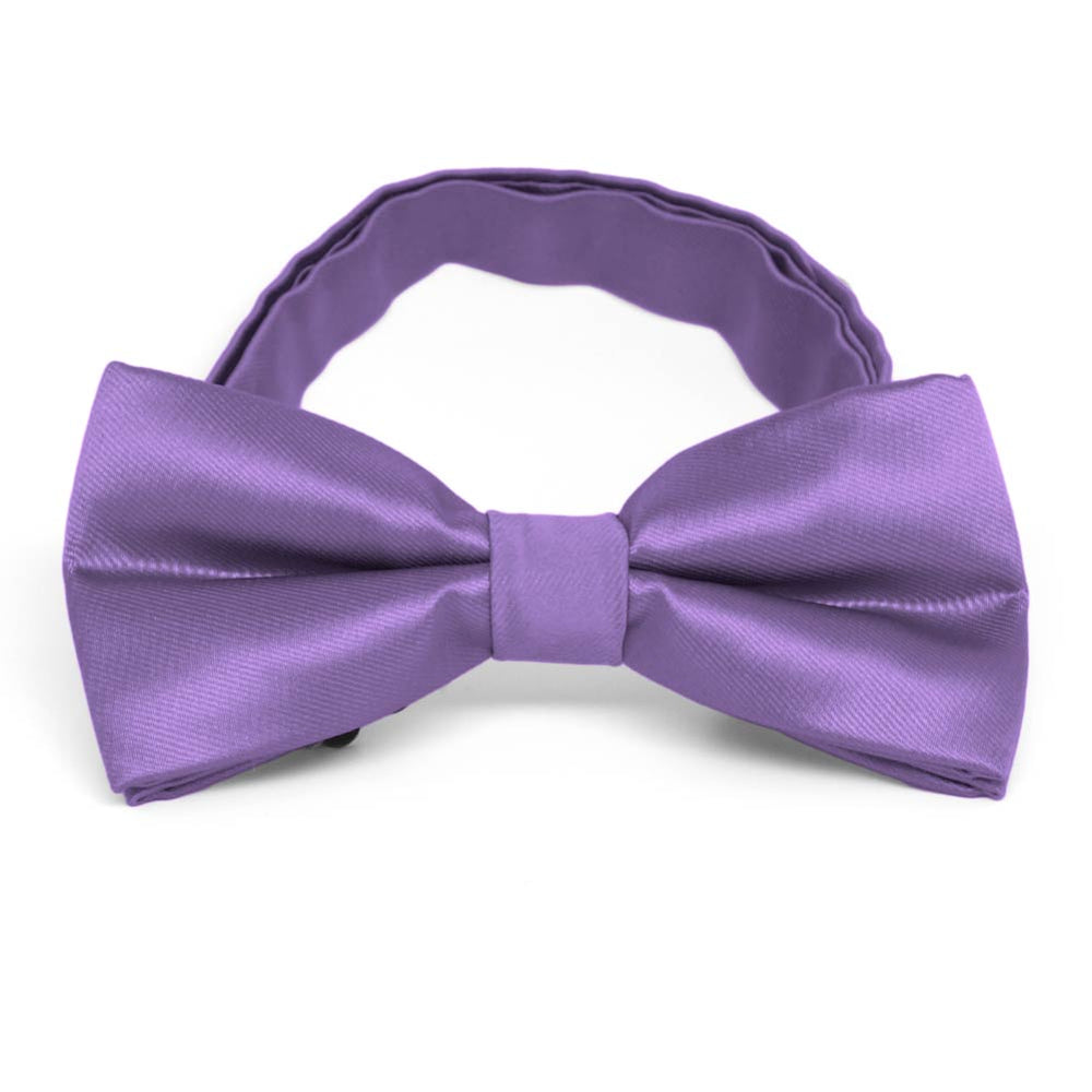 Purple Band Collar Bow Tie