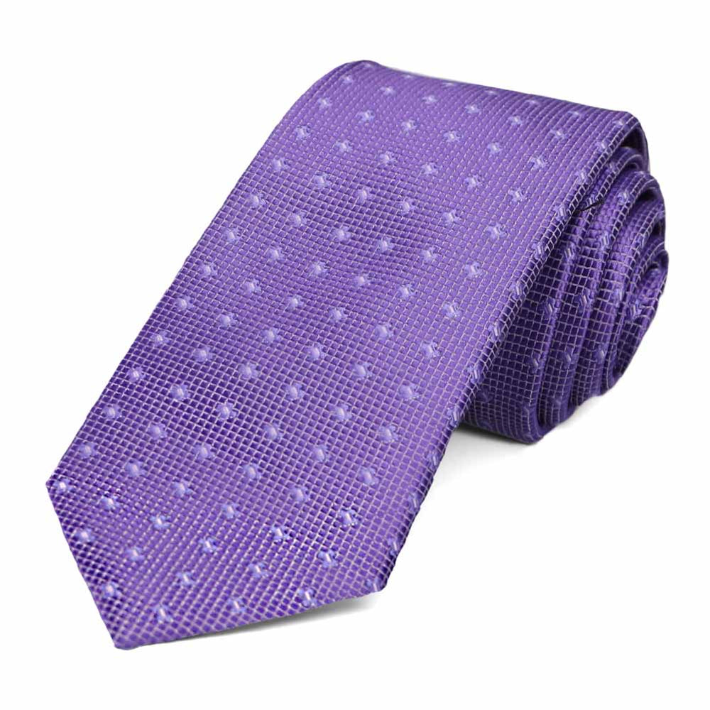 Purple dotted pattern necktie