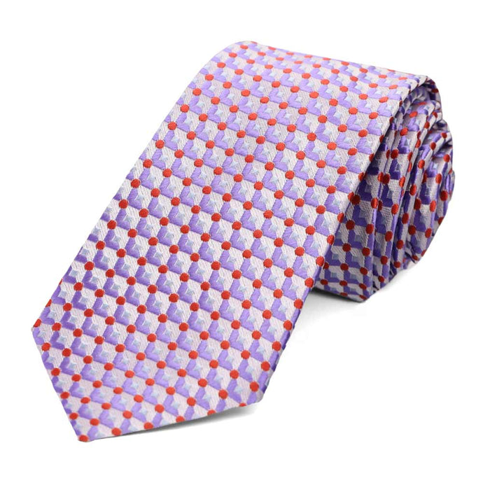 Purple Island Geometric Slim Necktie