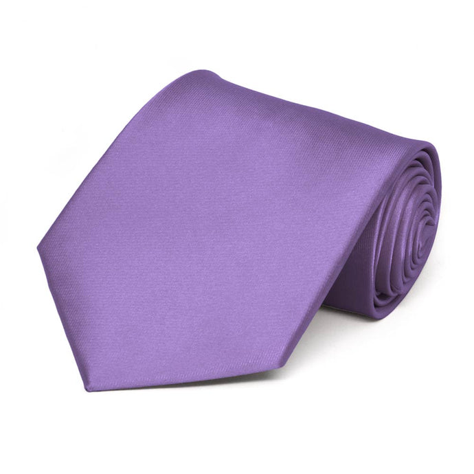 Purple Solid Color Necktie