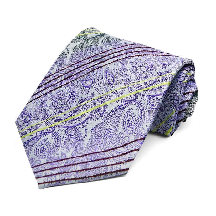 Light Purple Alden Paisley Necktie