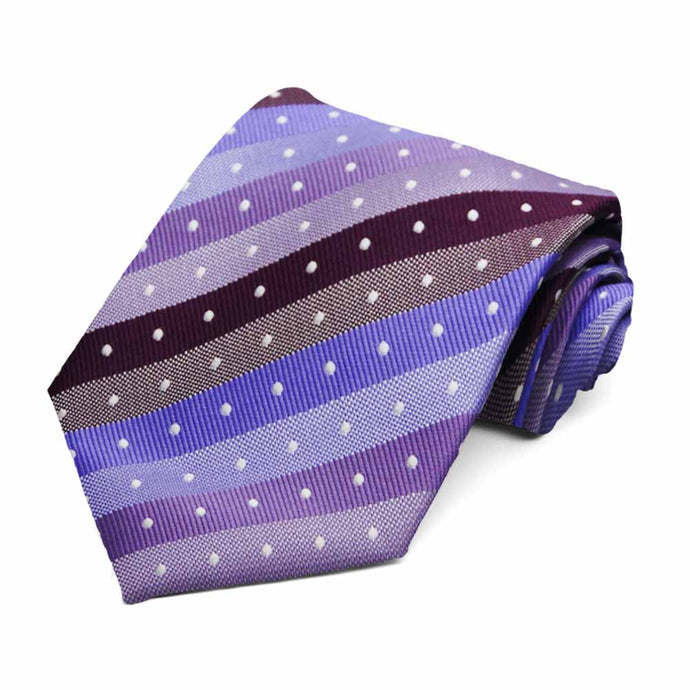 Purple Manchester Striped Necktie