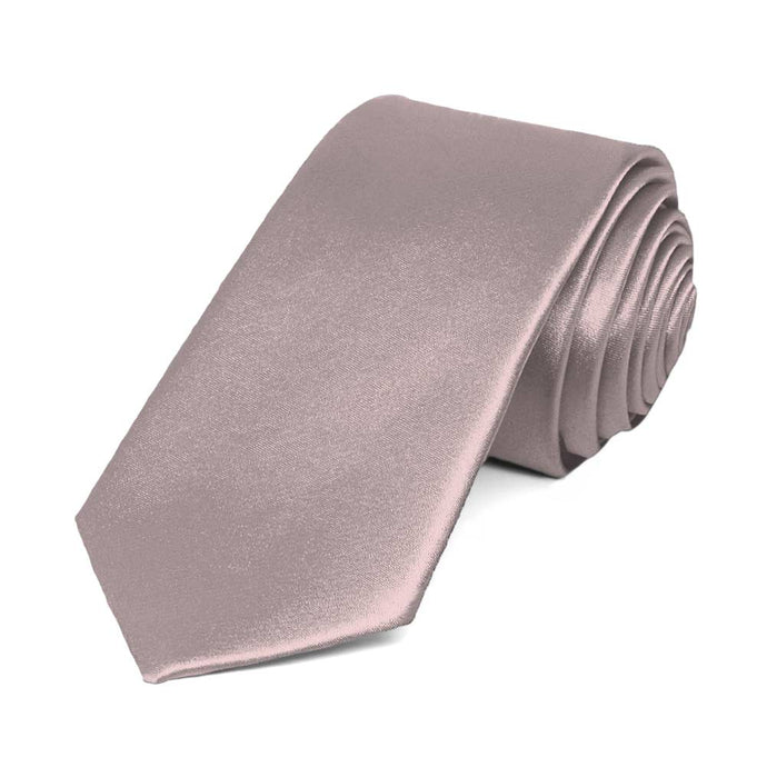 Quartz Slim Solid Color Necktie, 2.5