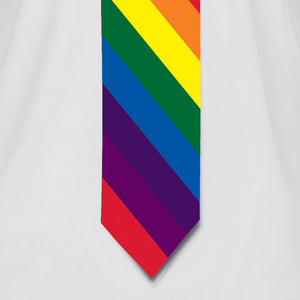 Rainbow Striped Necktie T-Shirt