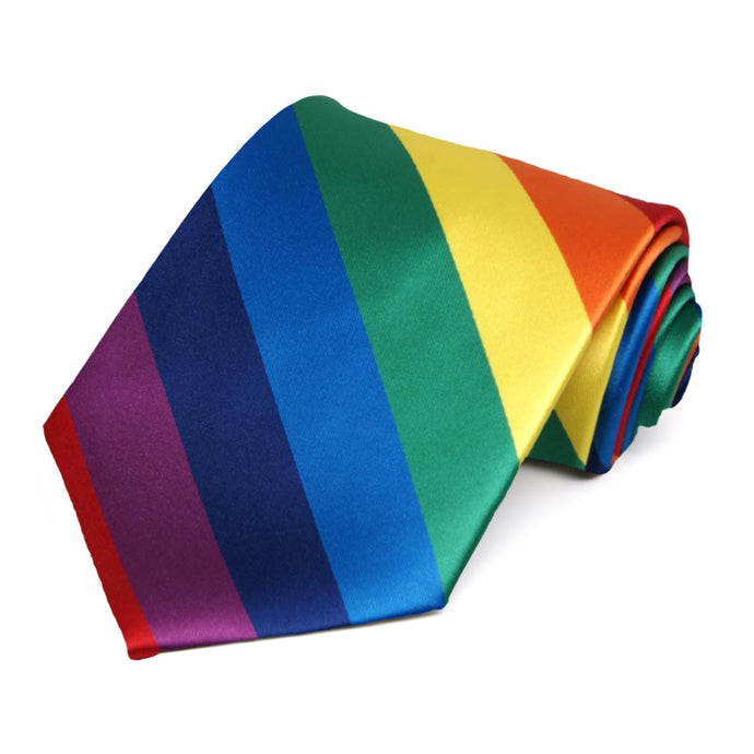 Rainbow Striped Tie