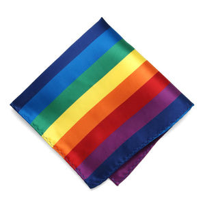 Rainbow Striped Pocket Square