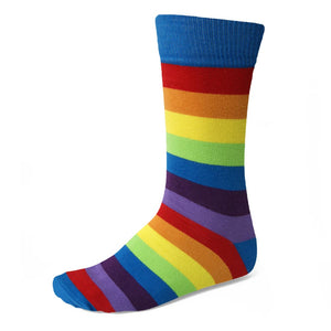 Men's Rainbow Striped Socks