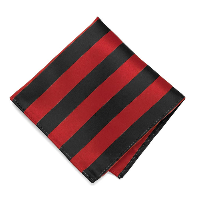 Red and Black Striped Pocket Square