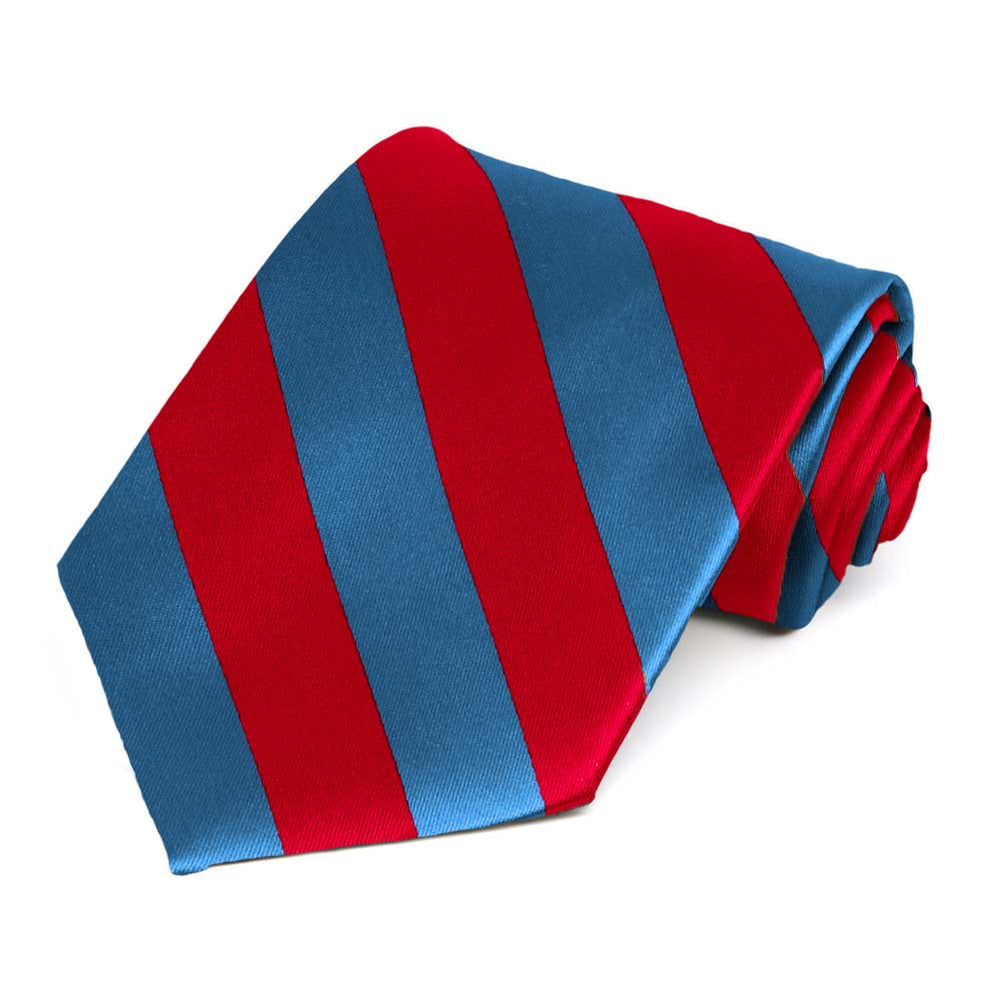Red and Blue Striped Tie