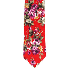 Load image into Gallery viewer, Anderson Floral Cotton Narrow Necktie