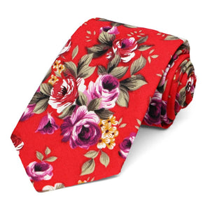 Anderson Floral Cotton Narrow Necktie
