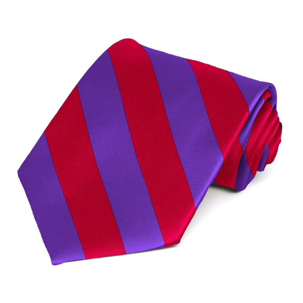 Red and Purple Striped Tie