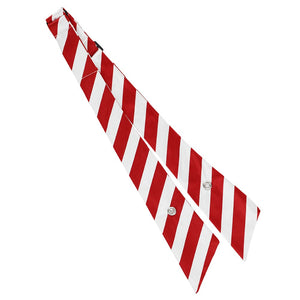 Red and White Striped Crossover Tie unsnapped