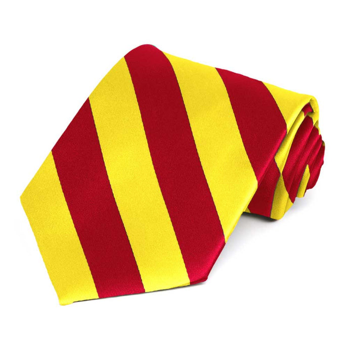 Red and Yellow Striped Tie