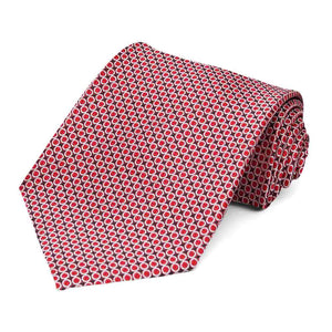 Red Henry Grain Pattern Extra Long Necktie