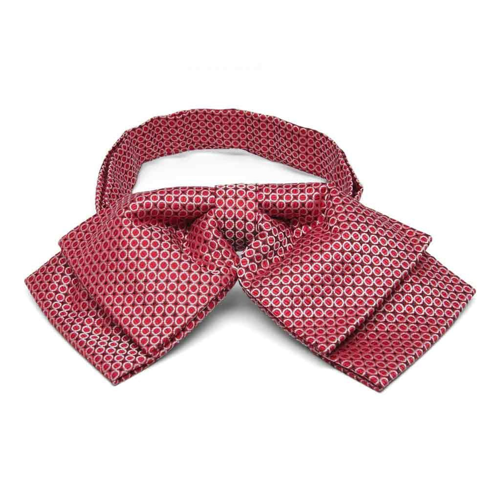 Red Henry Grain Pattern Floppy Bow Tie