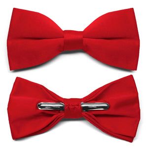 Red Clip-On Bow Tie