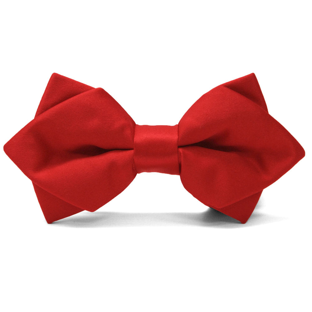 Red Diamond Tip Bow Tie