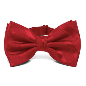 Red Elite Striped Bow Tie