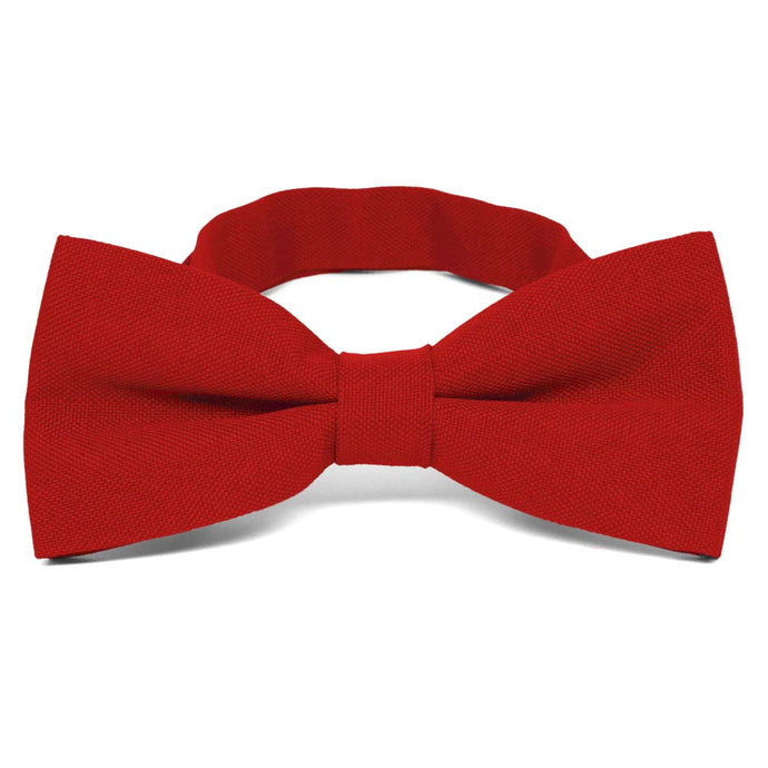 Red Matte Finish Bow Tie