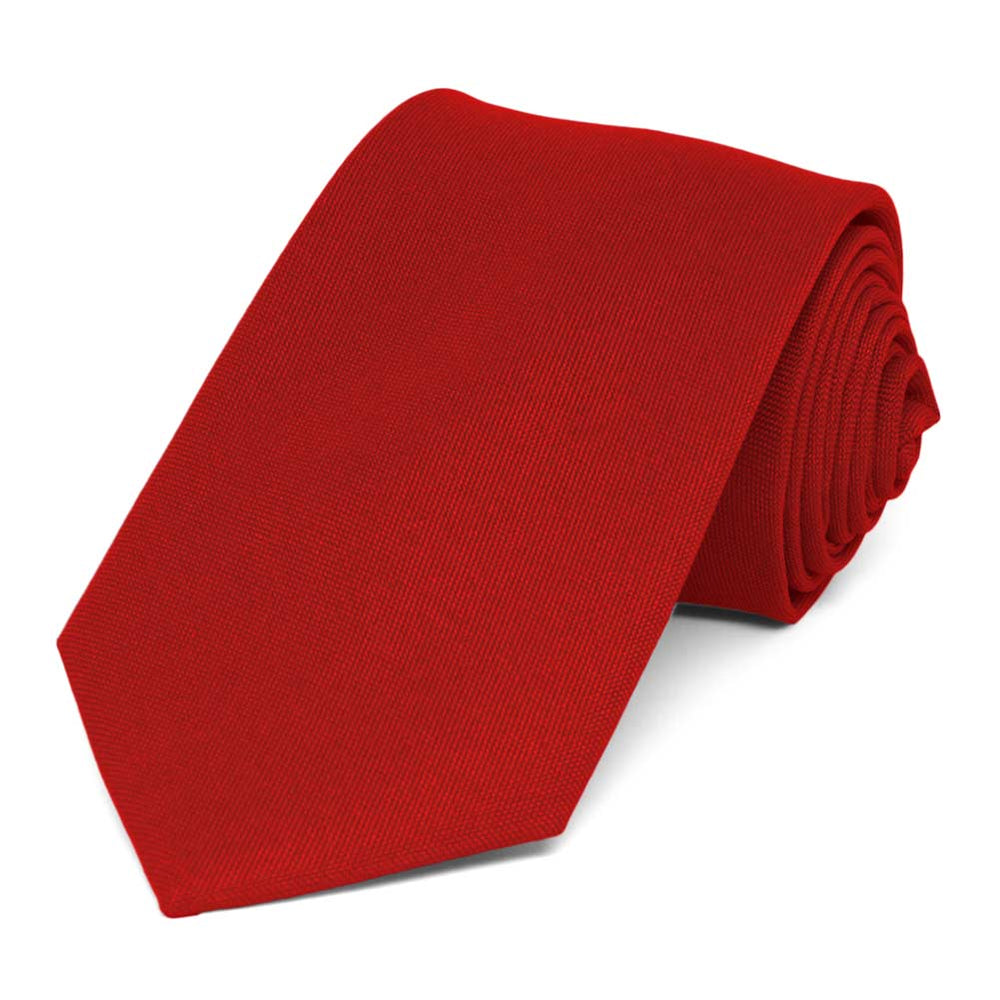 Red Matte Finish Necktie, 3
