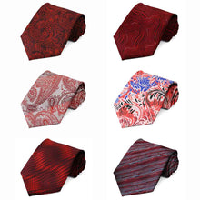 Load image into Gallery viewer, Red Pattern Neckties, 6-Pack