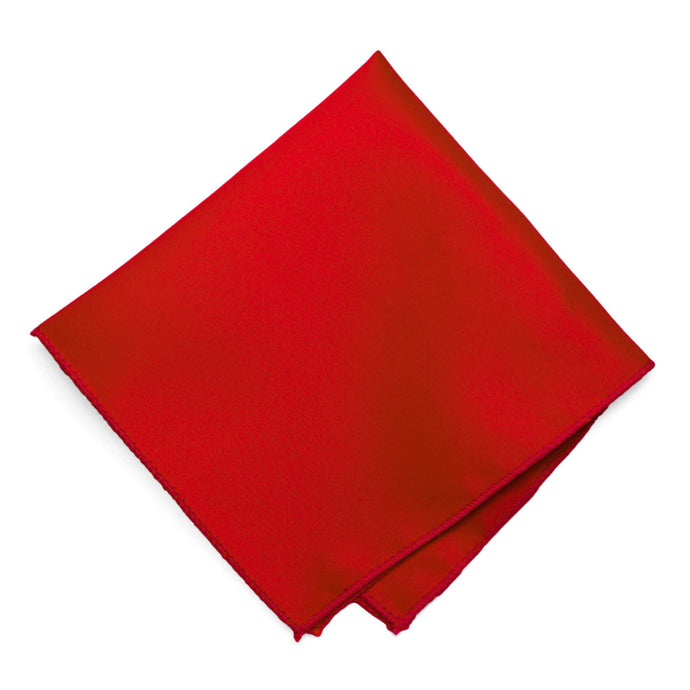 Red Solid Color Pocket Square