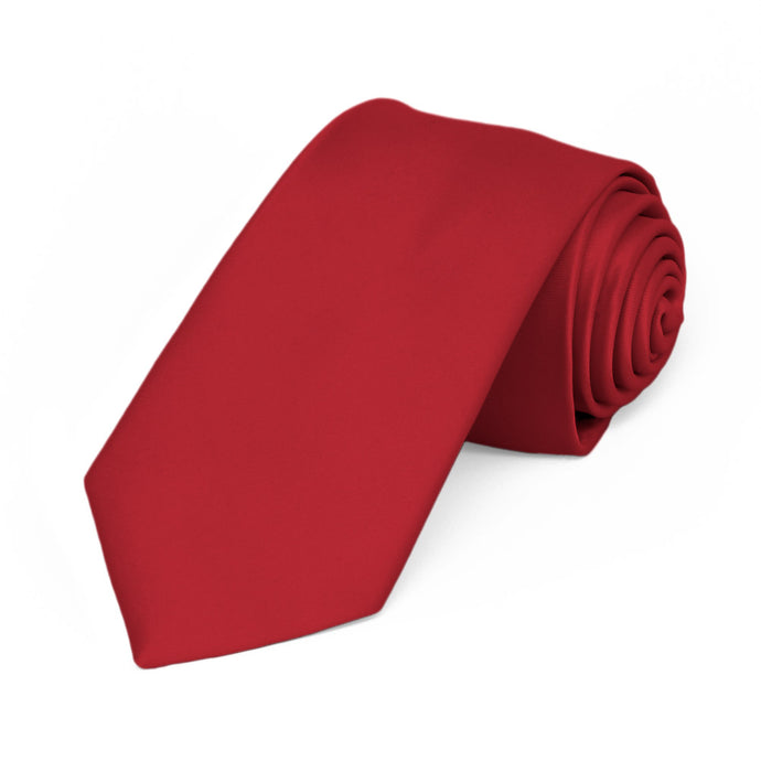 Red Premium Slim Necktie, 2.5