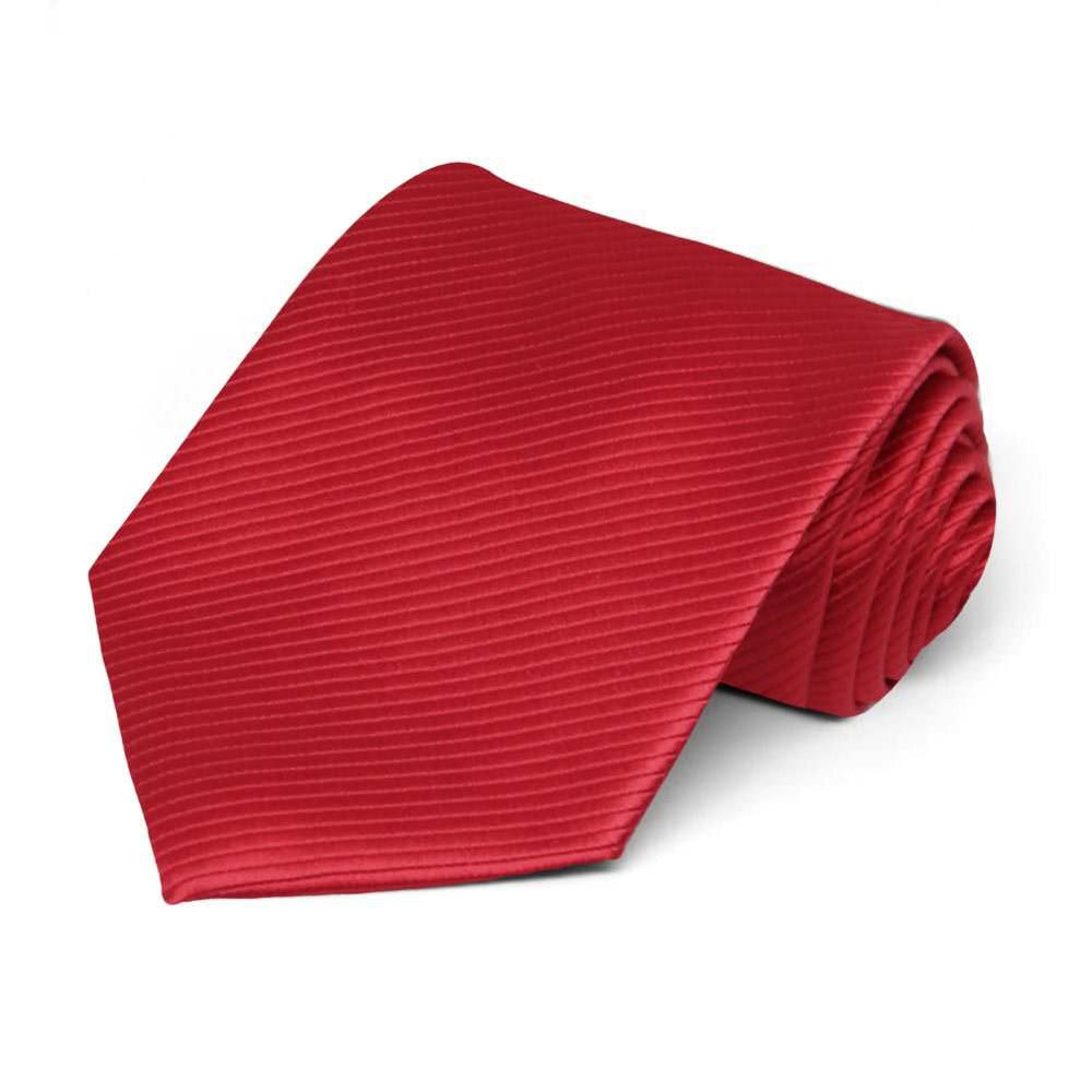 Red Ribbed Necktie