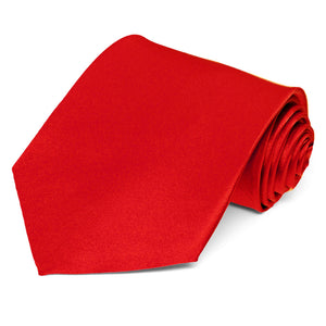 Red Silk Necktie