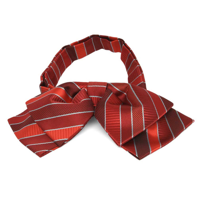 Red Douglas Stripe Floppy Bow Tie