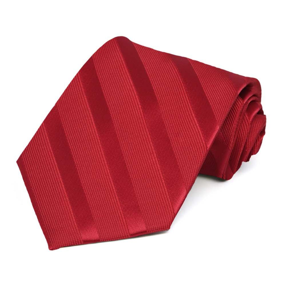 Red Elite Striped Necktie