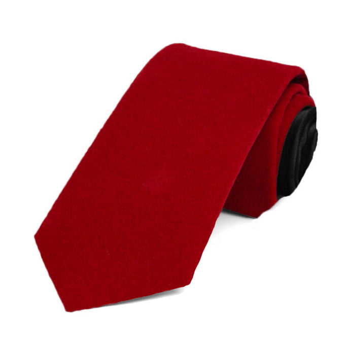 Red Velvet Slim Necktie, 2.5