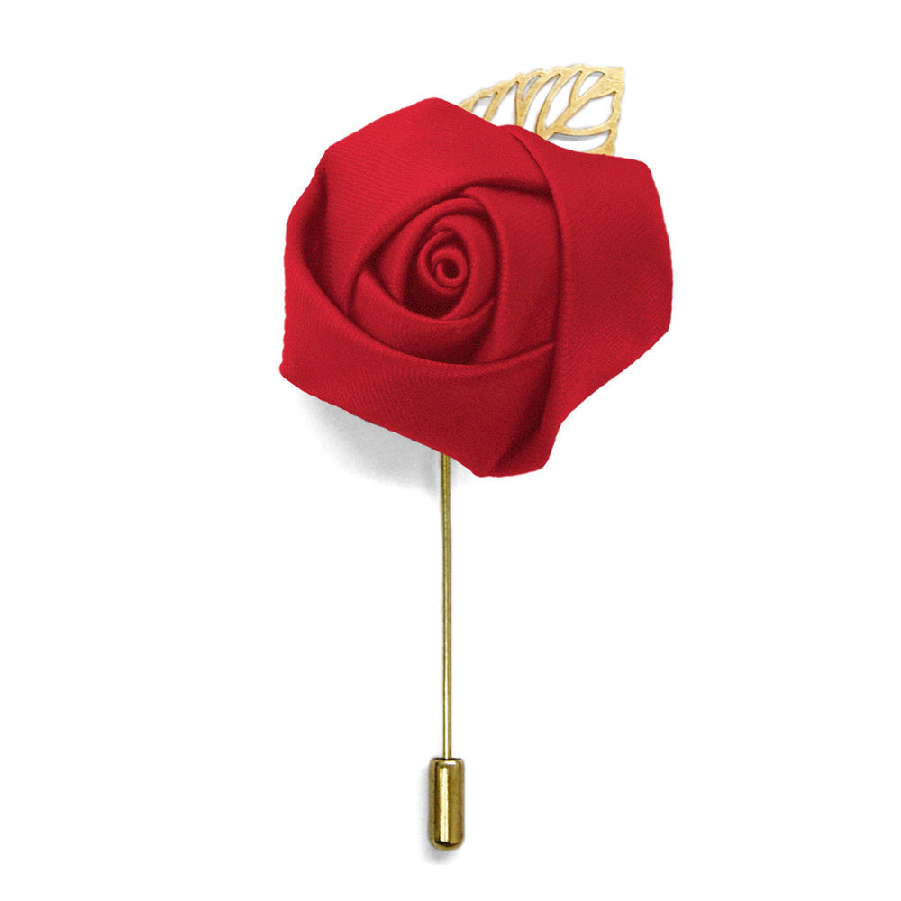 Red Premium Flower Lapel Pin